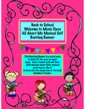 Back to School Welcome to Music Class Bunting Banner