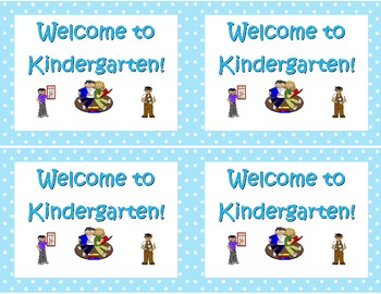 Back to School- Welcome to School Postcard Various Grade Levels