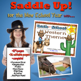 Back to School Western Theme Editable Super Pack