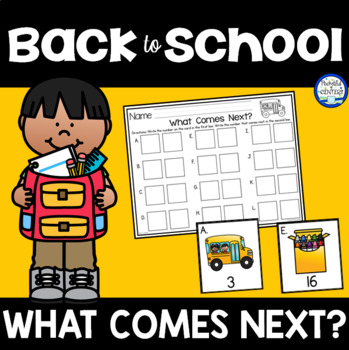 Back to School  What Comes Next? Math Game