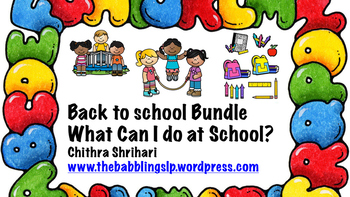 Back to School - What can I do at school?