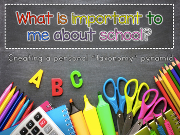 Back to School: What is Most Important to Me At School?
