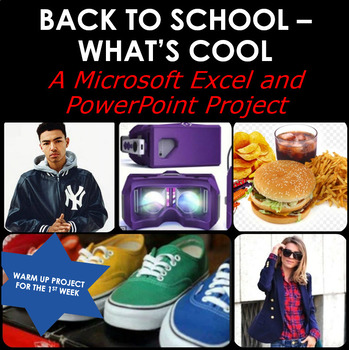 BACK TO SCHOOL WHAT'S COOL THIS YEAR:  A Microsoft Excel & PowerPoint Project