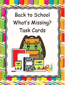 Back to School What's Missing Memory Task