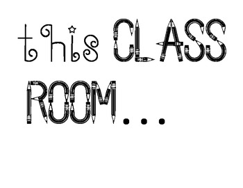 Back to School-When You Enter This Classroom Door Decoration