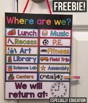 """Free EDITABLE Back to School """"Where Are We?"""" Sign"""