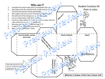 Ice Breaker, Back to School, Who Am I?, Summer Memories, Hands on Project