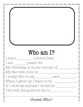 Back to School- Who am I?