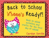 Back to School - Who's Ready?