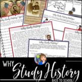 Why Study History? Reading and Cartoon Notes Activity
