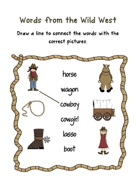 Back to School Wild West Theme for First Grade