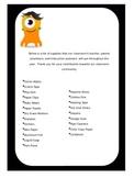 Back to School Wish List (Class DoJo)