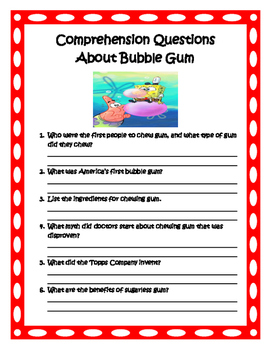 Back to School With Bubble Gum Packet