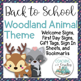 Back to School Woodland Animal Theme Packet