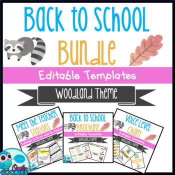 Back to School - Woodland Themed Bundle