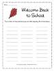 Back to School Word Bank Activity