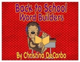 Back to School Word Builders Freebie Pack