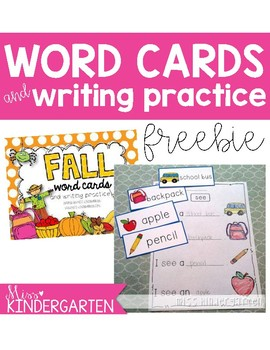 Back to School Word Cards {and writing practice}