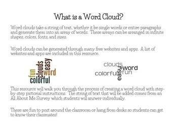 word cloud generator wordle activity by down by the schoolyard tpt