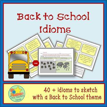 Back to School Word Work - Idioms and Silly Sentences for Fluent Readers