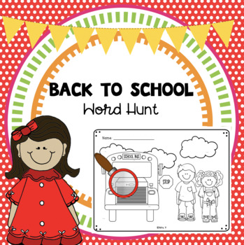Back to School Word Hunt