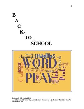Back-to-School Word Play Fun