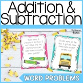 First Grade Back to School Word Problems
