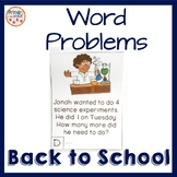 Back to School Word Problems Within 20
