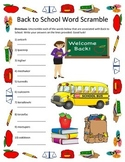 Back to School  Word Scramble- 10 Words