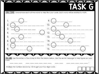 Back to School Word Scramble Activity - Free Sample