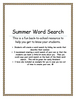 Back-to-School Word Search