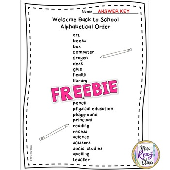Back to School Word Search (FREE) Grades 3-5