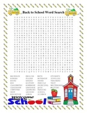 Back to School Word Search- Harder 33 Words