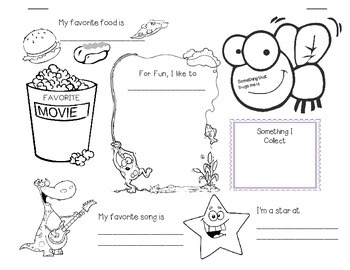 Back to School Word Search and & All About Me Poster