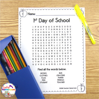 Back to School Word Searches