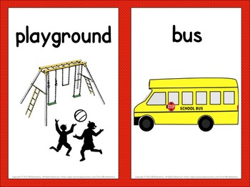 Back to School Visual Vocabulary Word Wall