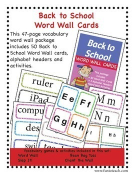 Back to School Word Wall - BTS copy, cut and go!