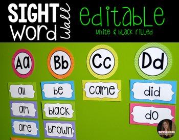 Back to School Word Wall (Editable)