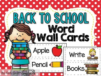 Back to School Word Wall Cards!