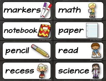 Back to School Word Wall K-2 FREEBIE