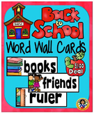 Back to School Word Wall Set