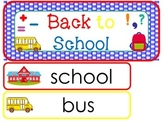 Back to School Word Wall Weekly Theme Posters.