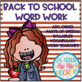 Back to School Word Work for the Primary Student!