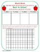 Back to School:  Making Words and Extension Word Search Activity