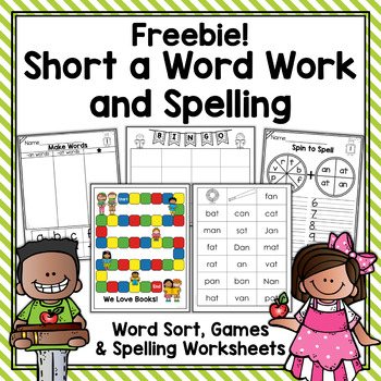 Short a Word Work & Spelling Freebie