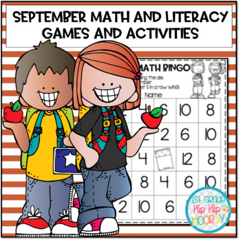 September Math and Literacy Activities...Print and Go!