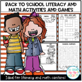 Back to School Word Work, Writing, Math Bundle!