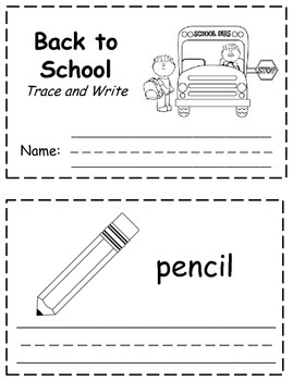 Back to School Words Trace & Write Book