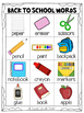 Mini Word Wall - Back to School Themed