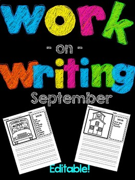 Back-to-School Work on Writing {EDITABLE!}